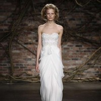 Wedding Dresses, Sweetheart Wedding Dresses, Fashion, dress, Sweetheart, Sheath, Monique lhuillier, Sheath Wedding Dresses