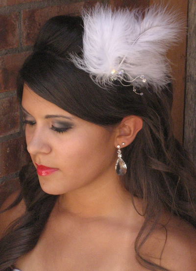 Beauty, Feathers, Accessories, Hair, Amys bridal accessories, Feather