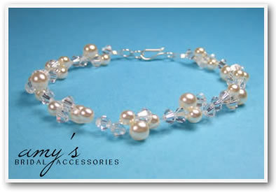 Jewelry, Bracelets, Bridal, Brides, Crystal, Bracelet, Pearl, Illusion, Amys bridal accessories