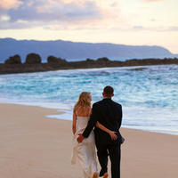 Destinations, Hawaii, Beach, Wedding, Couple, Photographer, Sunset, Oahu