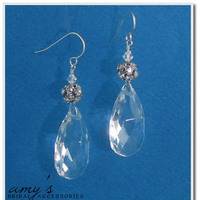 Jewelry, Earrings, Drop, Chandelier, Crystals, Large, Amys bridal accessories, Crysatl