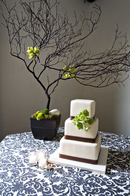 Flowers & Decor, Cakes, white, black, cake, Flowers, And, De, Lisa, Hall, Twist, Organic, Historic, Marzipan, something boathouse manka's reception organic seth anna charm rustic chic modern, Cakefleur, Bluewedding