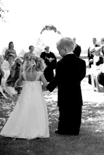 Ceremony, Flowers & Decor, Flower, Girl, Ring, Kids, Bearer, Children, Candid, Jen martin studios