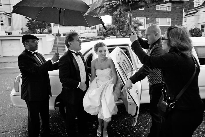 Umbrellas, Umbrella, Limo, Black white, Rain
