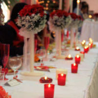 red, Candles