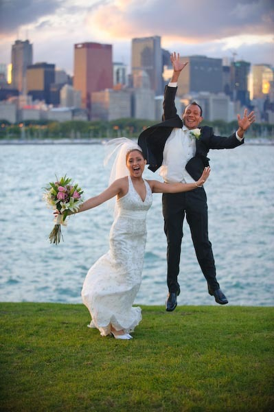Fun, Chicago, Lake, Rascon design photography, Being, Jumping, Front, Having, Jump, Silly, Skyline, Planetarium