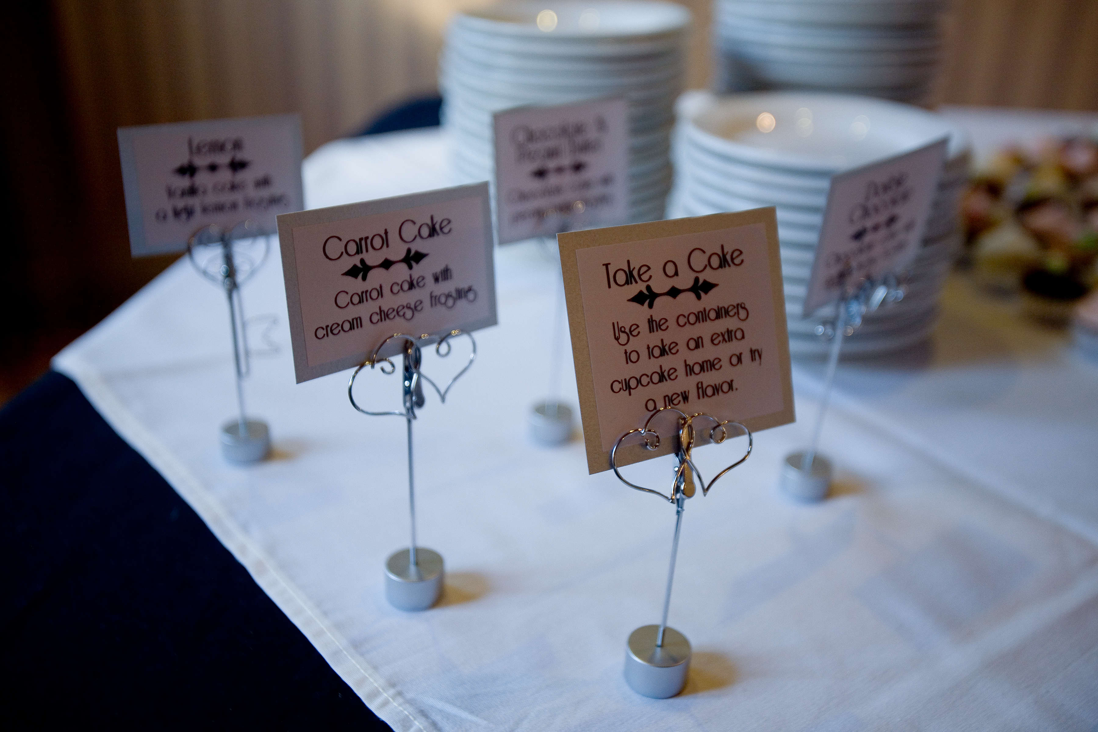 Cupcakes, Signs, Tealight weddings events