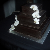 Flowers & Decor, Cakes, cake, Square Wedding Cakes, Square, Flowers, Fondant, Chocolate, Couture cake house
