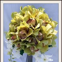 Flowers & Decor, green, Flowers, Wedding, Orchids, Cymbidium, Natural, Touch, Shavons wedding silks