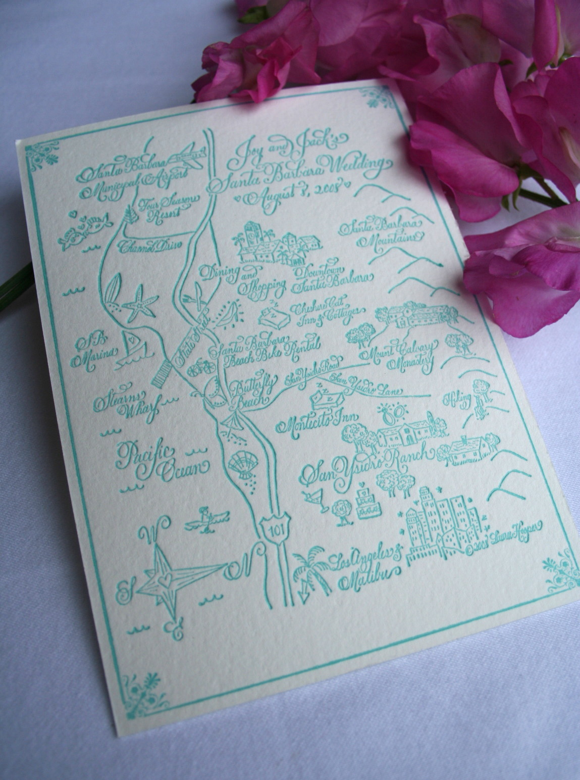 Stationery, Invitations, Laura hooper calligraphy, The, Save, Dates, Maps