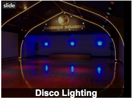Lighting, Ballroom, Blue moon ballroom