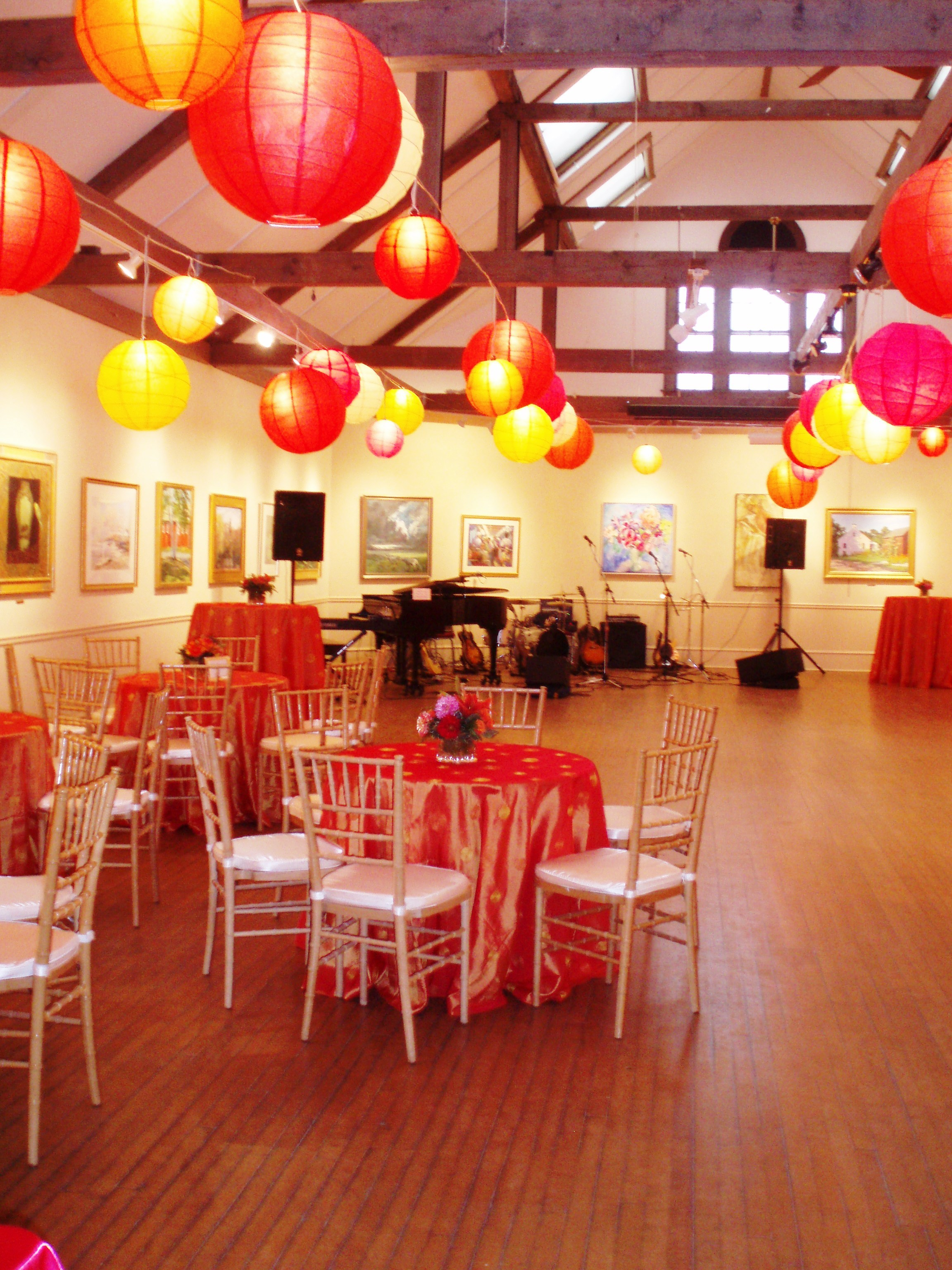 Reception, Flowers & Decor, Lanterns, Color, Art, Rockport art association