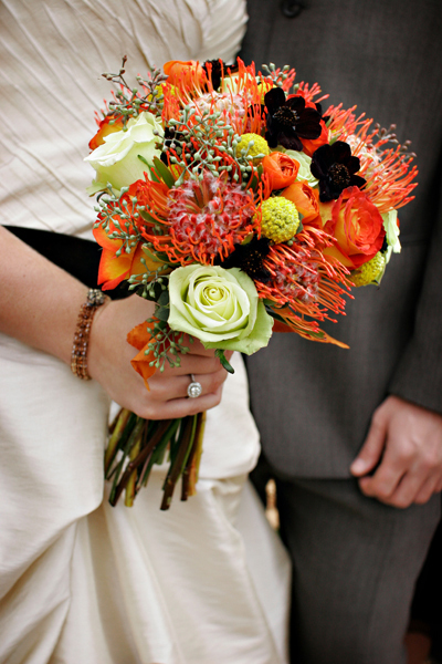 orange, Bouquet, Funky