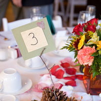 Centerpieces, Table Numbers, Place Settings, Homemade