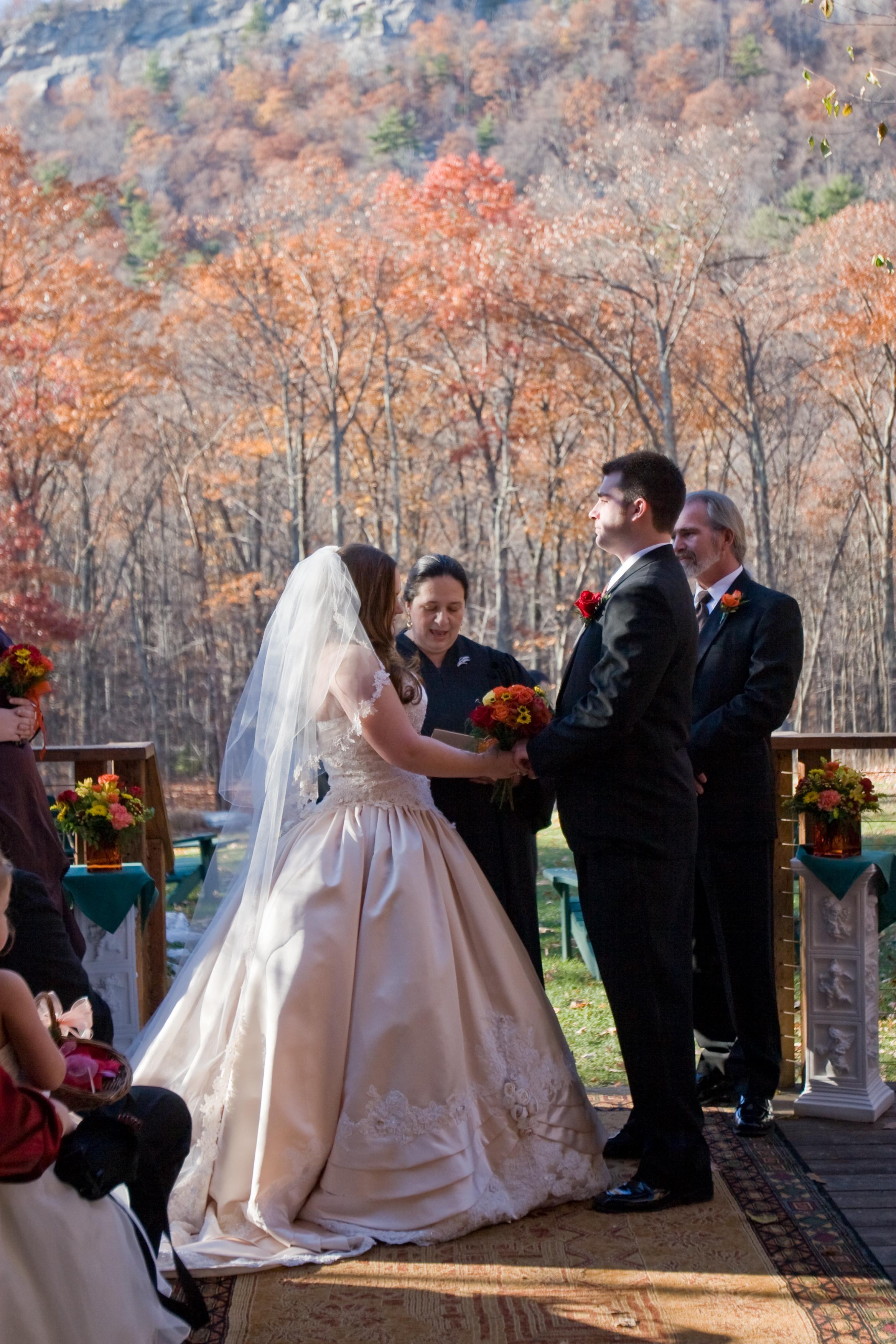 Ceremony, Flowers & Decor, Ceremony Flowers, Flowers, Vows, Officiant, Lodge, Minnewaska