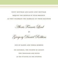 Stationery, white, yellow, green, gold, Invitations