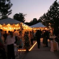 Reception, Flowers & Decor, Outdoor, Tent, Sunset, In, Bar, Lights, Trees