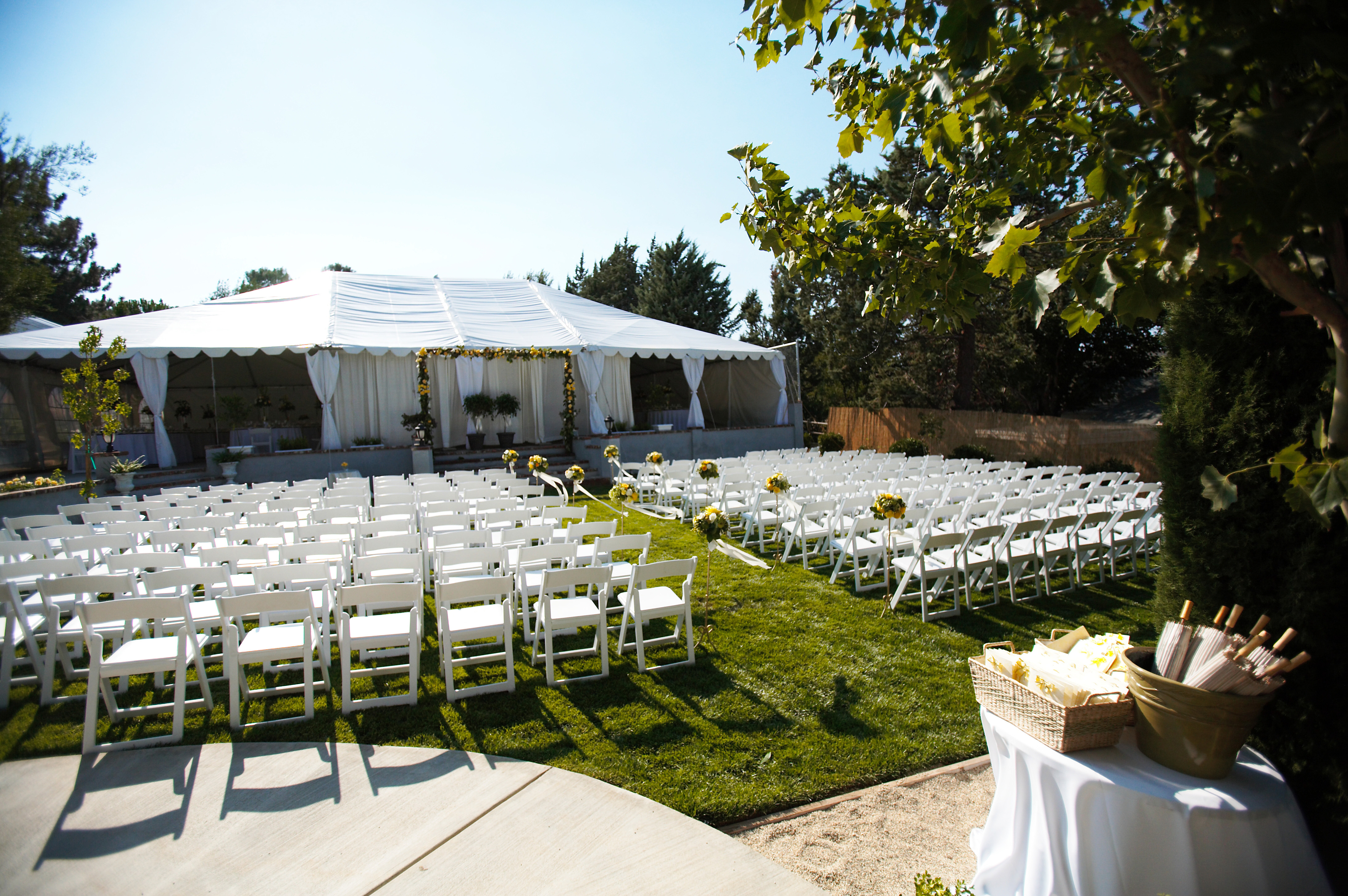 Ceremony, Flowers & Decor, Garden, Outdoor, Tent, Ca