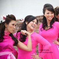 Bridesmaids, Bridesmaids Dresses, Fashion, pink, Ao dai, Vietnamese dress