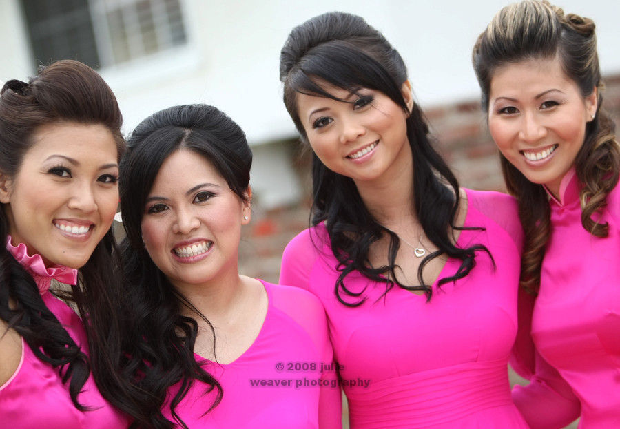 Beauty, Bridesmaids, Bridesmaids Dresses, Fashion, pink, Makeup, Hair