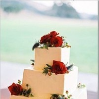Cakes, red, cake, Rose