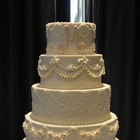 Cakes, white, ivory, cake, Round, Wedding, Buttercream, Stacked
