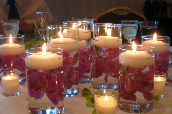 Reception, Flowers & Decor, pink, Flowers, Candle, Turtles