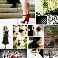 Inspiration, red, black, Board, Damask