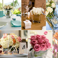 Flowers & Decor, white, pink, Square, Flowers