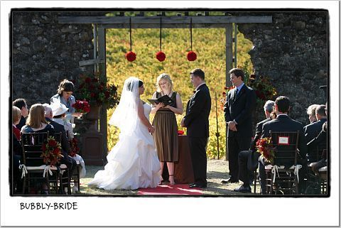 Ceremony, Flowers & Decor, red, Pomander