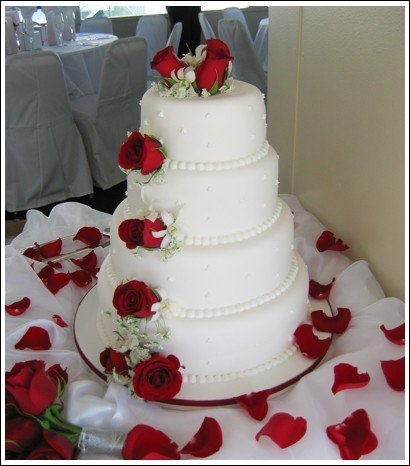 Flowers & Decor, Cakes, red, cake, Flowers, Rose