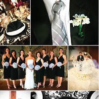 Inspiration, white, black, Board, Damask