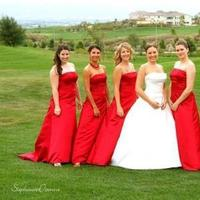 red, Bridesmaid