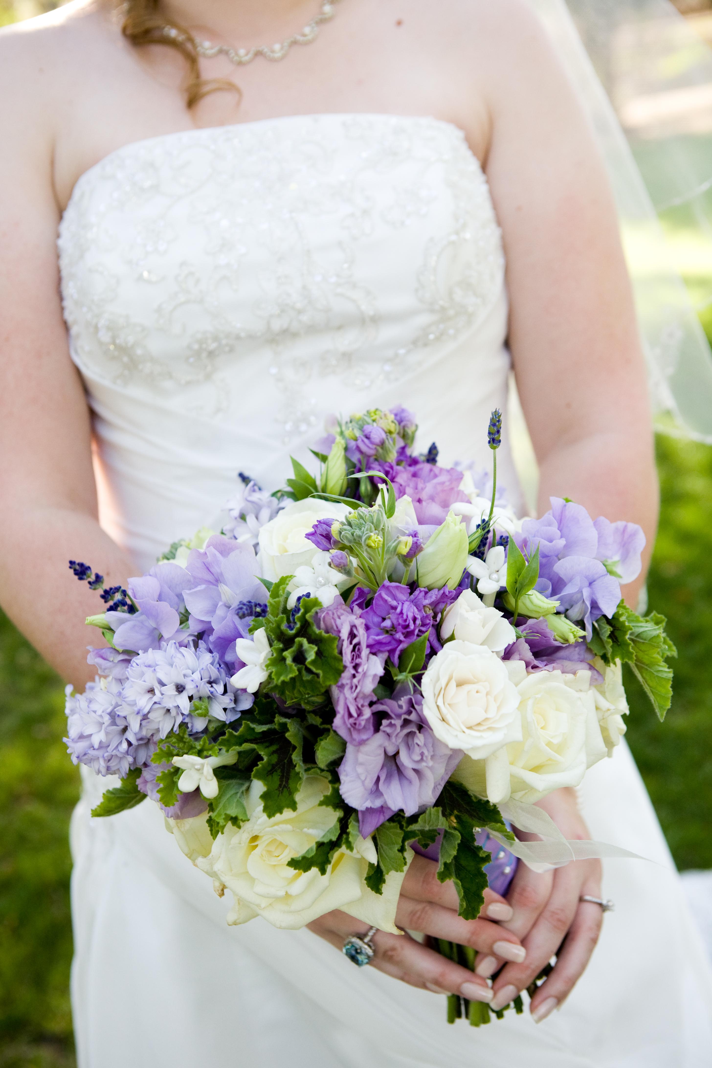 purple, green, Bouquet