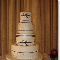 Cakes, cake, Classic Wedding Cakes, Ribbon Wedding Cakes, Wedding, Simon lee bakery