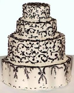 Cakes, black, cake, Damask