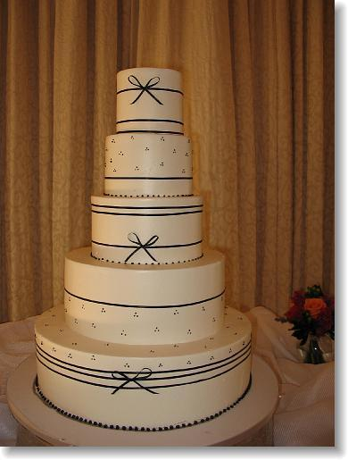 Cakes, cake, Classic Wedding Cakes, Ribbon Wedding Cakes, Wedding, Simon lee bakery