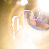 Photography, yellow, Kiss, Photo, Couple, Sunset, Outdoors, Engagement, Color, Park, Kissing, Love, Flare, Session, Sun, Roman francisco, Roman, Canon