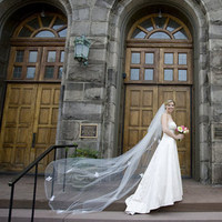 Veils, Fashion, white, gray, Bride, Bouquet, Veil, Church, Arch, Bright, Photographer, Color, Three, Wood, Doors, Roman francisco, Horizontal, Roman, Wind