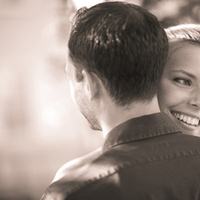 Beauty, Bride, Girl, Groom, Hair, Hug, Bright, Outdoors, Color, Park, Sepia, Smile, Roman francisco, Horizontal