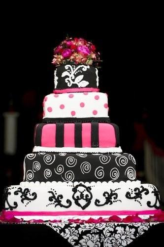 Cakes, pink, cake, Damask