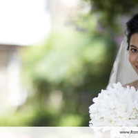 Veils, Fashion, white, Bouquet, Portrait, Veil, Outdoors, Color, Bokeh, Smile, Roman francisco, Horizontal, Indonesian, Indonesia, Bali