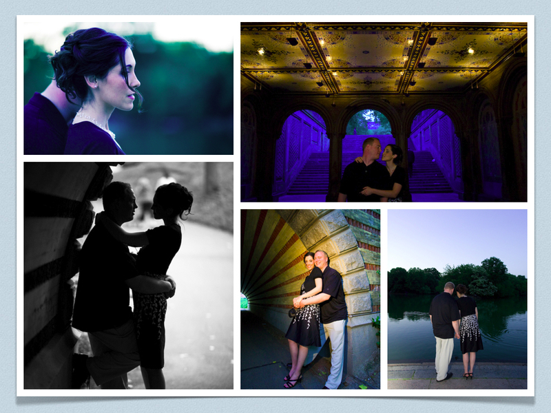 Engagement, Park, York, New, Session, Silhouette, Central, Manhattan, Collage, Roman francisco