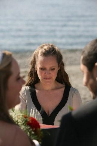 Beach, Wedding, With, Officiant, Children, Washington, Minister, Heather kotoks ceremonies