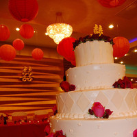 Reception, Flowers & Decor, Cakes, cake, Flowers, Chinese, Restaurant, Events by karen lee