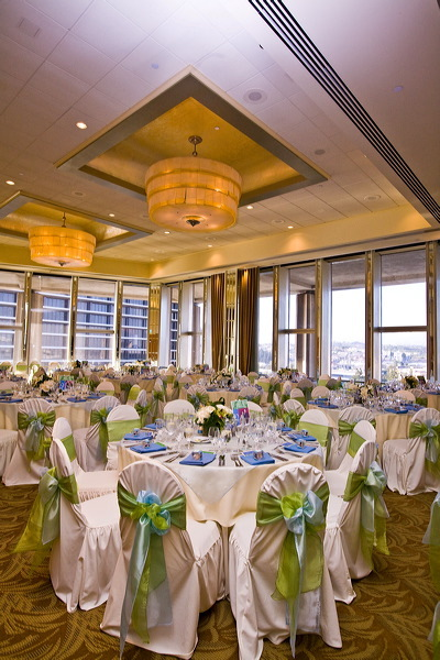 Reception, Flowers & Decor, blue, green