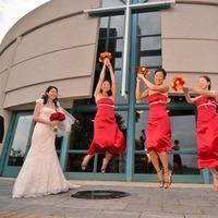 red, Fun, Colorful, Jumping, Silly, Rascon design photography, Amazing, Spectacular, Red dress