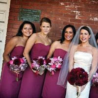 Flowers & Decor, Bridesmaids, Bridesmaids Dresses, Fashion, pink, Garden, Roses, Berry, Orchids, Hydrangeas, Dahlias, Flowesrs