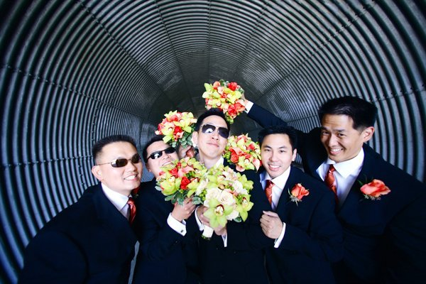 Flowers & Decor, Men, Flowers, Groom, Wedding, Group, Grooms