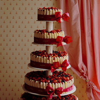 Cakes, red, cake
